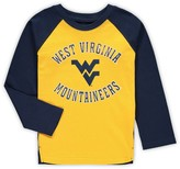 Outerstuff Preschool Gold West Virginia Mountaineers Air Raid Raglan Long Sleeve T-Shirt