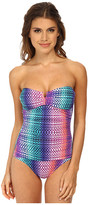 Tommy Bahama Ombre V Front Bandeau One-Piece