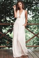 The Jetset Diaries Morning Swim Maxi Dress in Ivory