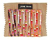 Jane Tran Harlequin Print Square Clip Set