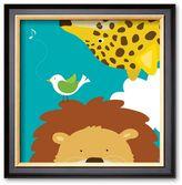 "Art.com Safari Group: Leopard and Lion"" Framed Art Print by Yuko Lau"
