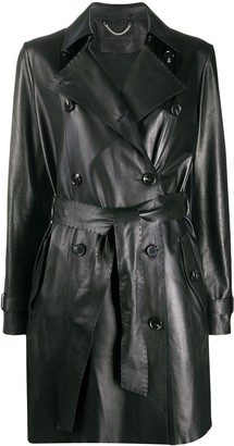 Desa 1972 Belted Leather Trench Coat