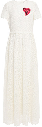 Valentino Embroidered Cotton-blend Guipure Lace Maxi Dress