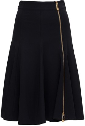 Versace Zipped Jersey Skirt