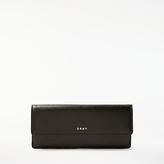 DKNY Sutton Textured Leather Slim Foldover Purse