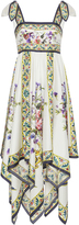 Dolce & Gabbana Floral-Print Silk-Twill Midi Dress