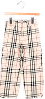 Burberry Girls' Nova Check Cargo Pants