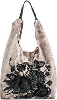 Jamin Puech damask embellished tote bag