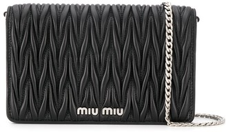 Miu Miu Matellasse Leather Shoulder Bag