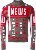 J.W.Anderson 'News' jumper - men - Polyamide/Polypropylene/Merino - S