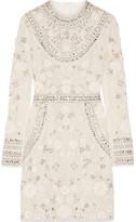 Needle & Thread Bridal Embellished Tulle Mini Dress - Ivory