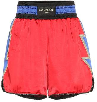 Puma x Balmain high-rise boxing shorts