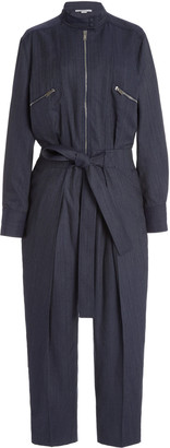 Stella McCartney Brielle Belted Tapered Jumpsuit