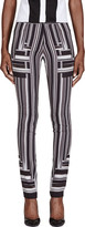 Peter Pilotto Black & White Stripe Skinny Trousers