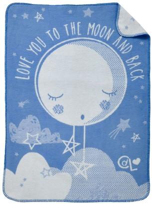 Clair De Lune Over the Moon Fleece Blanket