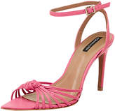 BCBGMAXAZRIA Delia Knotted Leather Point-Toe Sandals