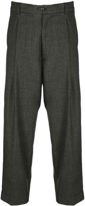 Societe Anonyme Pleat-Front Trousers