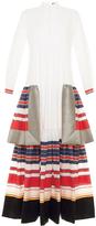 Alexis Mabille Tiered Poplin Tunic Dress