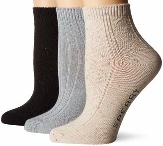 Sperry Women's 3 Pack Sweaterweight Ankle Socks