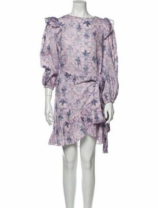 Etoile Isabel Marant Linen Mini Dress Purple