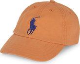 Ralph Lauren Boys Big Pony Embroidered Logo Westport Orange Cotton Baseball Cap