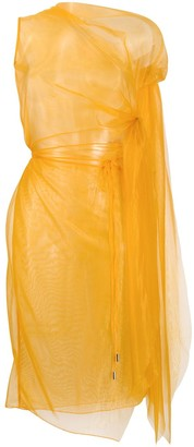 Supriya Lele Sheer Asymmetric Dress
