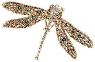 Kenneth Jay Lane Antique Gold Dragonfly Pin