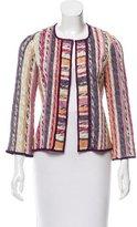 Missoni Striped Open-Knit Cardigan