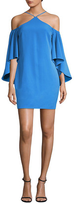 Laundry by Shelli Segal Crisscross Neck Dress