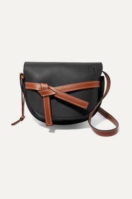 Loewe Gate Small Textured-leather Shoulder Bag - Black