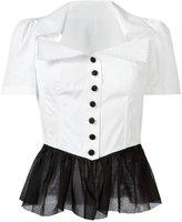 Dolce & Gabbana peplum shirt - women - Silk/Cotton - 42