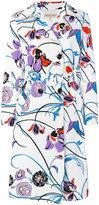 Emilio Pucci floral print midi coat