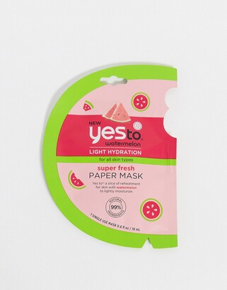 Yes to Watermelon Super Fresh Paper Mask