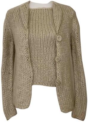 Genny Beige Wool Knitwear for Women