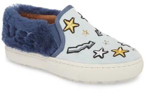 b06a2218e63 Patch It Genuine Shearling Trim Slip-On Sneaker