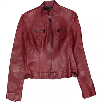Gucci Burgundy Leather Jackets