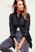 Free People Womens MILITARY RUFFLES JACKET