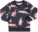 Mini Rodini Rabbit Printed Organic Cotton Sweatshirt