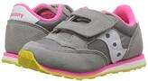 Saucony Kids Originals Jazz Hook Loop (Toddler/Little Kid) (Grey/Pink) Girls Shoes