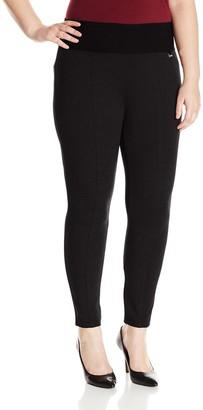 Calvin Klein Women's Plus-Size Modern Essential Power Stretch Legging with Waist Band