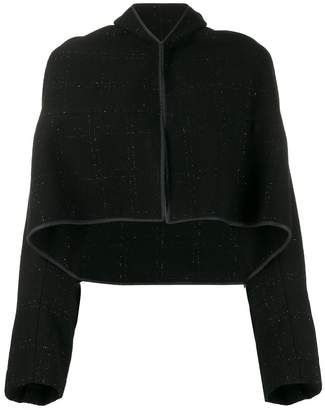 Comme des Garcons Pre-Owned 1990's cape cropped jacket