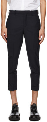 Neil Barrett Navy Horizontal Zip Trousers