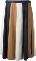 Drome striped pleated skirt - women - Lamb Skin/Cupro - S