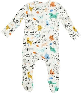 Angel Dear Zipper Footie Pajamas - Infants'