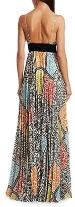Silvia Tcherassi Genevive Sleeveless Mosaic-Print Maxi Dress