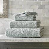 Crate & Barrel Egyptian Cotton Spa Blue Bath Towels