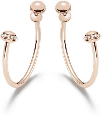 Piaget Possession 18k Rose Gold Detachable Diamond Hoop Earrings