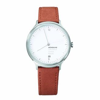 Mondaine Unisex MH1.L2210.LG Helvetica Analog Display Swiss Quartz Brown Watch