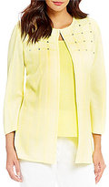 Ming Wang Jewel Neck Jacket