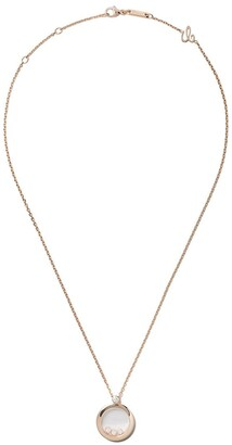 Chopard 18kt rose gold Happy Diamonds Icons pendant